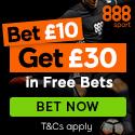 Bet £10 get £30 with 888.com